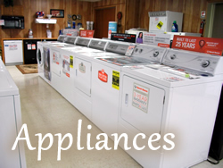 Ranges & Cooktops, Dishwashers, Washers/Dryers, Combo Washers/Dryers, Hoses & Accessories, Refrigerators, Freezers, Etc.