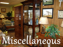Artwork, KitCat Clocks, Corner Cabinets, End Tables, Coffee Tables, Lamps, Etc.